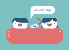 New baby tooth ,dental family Royalty Free Stock Photos