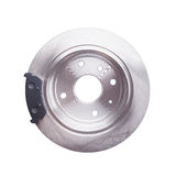 New back brake disks and pads Stock Photography