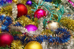 New background of Christmas Ornaments Stock Images