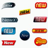 New badges Royalty Free Stock Images