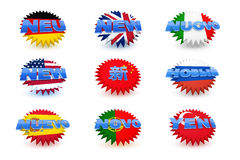New - Badges Stock Photography