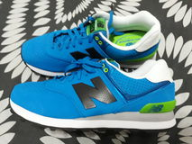 New Balance 574. Left  side view Royalty Free Stock Photo