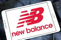 New balance logo. Logo of sporting fashion company, new balance on samsung tablet Stock Image