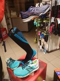 New Balance running shoes. Berlin, Germany - January 28, 2018: New Balance running shoes. New Balance Athletics, Inc. NB, best known as simply New Balance, is an Stock Photos