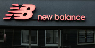 New balance on a store in Amsterdam Stock Images