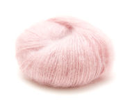New ball of pale pink mohair Stock Photo