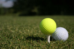 New Balls Please!. Two Balls on a course stock images