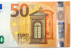New banknote of fifty euros.  Royalty Free Stock Images