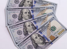 New banknote hundred dollars Stock Photo