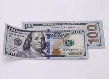 New banknote hundred dollars Stock Photos