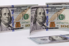 New banknote hundred dollars Royalty Free Stock Photo