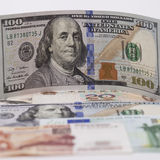 New banknote hundred dollars Stock Image
