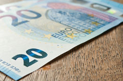 New banknote of twenty euros Stock Images