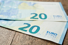 New banknote of twenty euros Stock Image