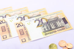 New banknotes of the Belarusian ruble Stock Photography