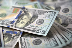 New banknotes of dollars Royalty Free Stock Photos