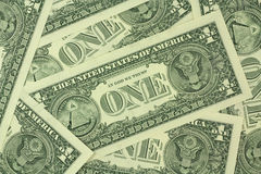 New banknotes of one US dollar background Royalty Free Stock Image
