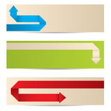 New banner set with origami paper arrows Stock Photos