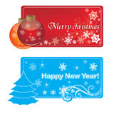 New_banners. New year - banners for your web site stock illustration