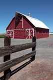 New Barn and fence, south Oregon. Royalty Free Stock Images