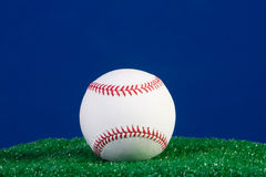 New baseball with blue background Stock Photo