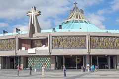 New Basilica of Our Lady of Guadalupe Stock Photo