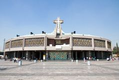 New Basilica of Our Mary of Guadalupe, Mexico City Stock Image