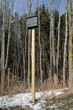 Bat House on. A new bathouse mounted on a post Stock Images
