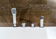 New bathroom fitment. Modern style interior, apartments Royalty Free Stock Images