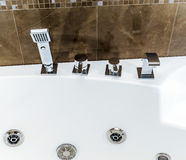 New bathroom fitment. Modern style interior, apartments Stock Photography