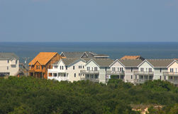 New Beach Home Construction. New beach homes being constructed on the beach, despite many hurricanes Royalty Free Stock Image