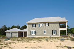 New Beach House in Construction Royalty Free Stock Photos