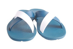 New beach sandals. Isolated background Royalty Free Stock Image