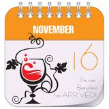 New Beaujolais has arrived. November 16 - New Beaujolais has arrived - young wine festival in France Royalty Free Stock Image