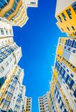 New beautiful and modern complex of buildings. Stock Photos