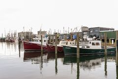 Commercial fishing boats Sea Horse, Seas the Deal and Jarhead stock photography