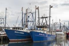 Scalloper Max & Emma and lobster boat Debbie Ann stock image