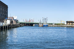 New Bedford waterfront Royalty Free Stock Photo