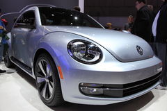 New Beetle At NY International Auto Show Royalty Free Stock Images