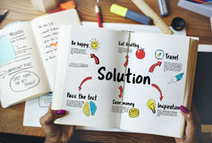 New Beginning Solution Goals Concept. Solution is important to achieve something Stock Photography