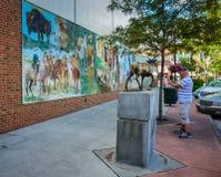 New Beginnings Mural - Sheridan, WY royalty free stock photos