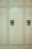 New Beige Lockers Stock Image