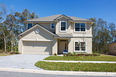 New beige stucco home royalty free stock image