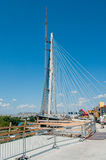 New belgrade bridge on river Sava 2 Royalty Free Stock Image