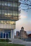 New Belgrade Building and Church Stock Photos