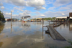 New Belgrade floods Royalty Free Stock Photo
