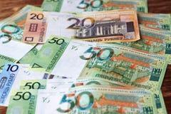 New Belorussian money. Cash background Stock Photos
