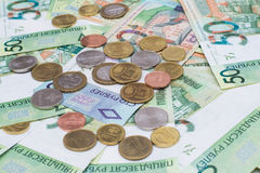 New belorussian money. Coins and banknotes. Finance concept. New belorussian money. Coins and banknotes. Finance concept Stock Photos