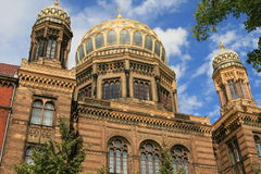 The new Berlin Synagogue. Built 1859–1866 Royalty Free Stock Images