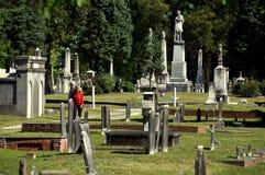 New Bern, NC: Cedar Grove Cemetery Stock Photography